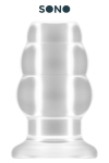 Plug Anal Creux Large Sono - Plug anal creux large translucide de 7,1 cm de diamètre pour 12,7 cm de long. Grande taille pour sodomiser le passif, insérer un sextoy ou verser des liquides dans son anus. Ce plug creux possède 3 anneaux de dimensions progressives pour ouvrir votre cul.