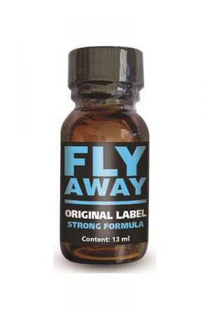 Poppers Français à l'Isopropyle Fly Away - Fly Away est un poppers français, formulé à base d'isopropyle pour un effet court mais intense dans un flacon de 13 ml