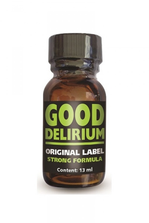Poppers Good D�lirium - Good D�lirium est un poppers aux effets intenses, � base d'isopropyle, en flacon concentr� de 13ml.
