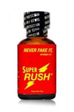 Poppers Super Rush 24 ml au Pentyle - Le poppers Super Rush est au de nitrite de pentyle ultra fort et puissant, grande bouteille de 24 ml, respirez le pour sentir en vous une irrépressible envie de baiser. Votre anus se dilate et vous avez envie de bite !