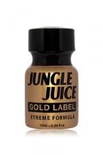Poppers Jungle Juice Gold Label Amyle 10ml - Poppers Jungle Juice Gold Label à base d'amyle nitrite : sa formule pure à plus de 99% transforme n'importe quel hétéro en passif trayeuse de bite. Ses effets augmentent sans cesse, plus vous respirez le nitrite d'amyle plus vous voulez de sexe