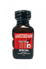 Poppers Amsterdam Special Amyle 24 ml  - Amsterdam Spécial est un poppers au nitritre d'amyle pour soumis : reniflez le pour vous sentir de plus en plus salope et vous transformez en chienne à bite qui veut faire des fellations et qu'on le chevauche. Vous voulez de la queue !
