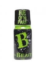 Poppers Beast Isopropyle 10 ml - Poppers Beast isopropyle 10 ml fabriqué en Grande Bretagne et conditionné dans un flacon de 10 ml. Ce poppers au nitrite de propyle libère vos envies de sexe, décontracte votre anus et vous rend plus curieux de nouvelles expériences.
