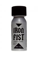 Poppers Iron Fist 30 ml - Poppers extra fort Made in Germany à base de nitrite d'amyle, avec bouteille alu incassable de 30 ml et bouchon sécurisé.