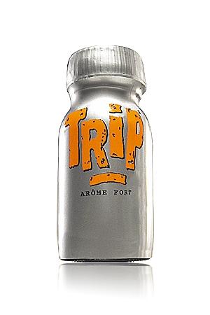 Poppers Trip - Poppers Trip arome sexuel très fort, contenance du flacon, 13 ml, parfumé au camphre, favorise la dilatation anale.