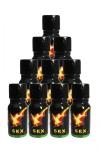 Poppers Sexline  (pack de 10) - 10 flacons de 13 mL de poppers Sexline a prix fou pour un poppers à l'efficacité redoutable. Puissant, réputé, cet arôme liquide combat vos peurs, décuple vos sensations et favorisent la détente anale ou vaginale.