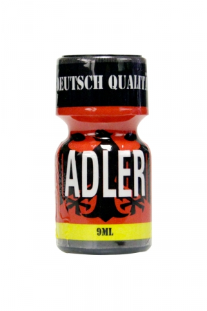 Poppers Adler 9 ml - Flacon de 9 ml de Poppers Adler, ar�me liquide �rotique � base de Nitrite de Penthyl (le plus fort).