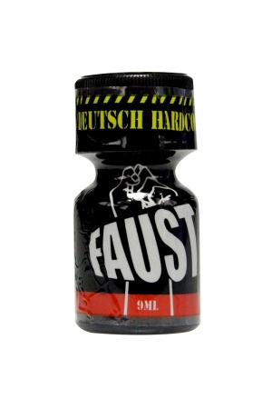 Poppers Faust 9 ml - Faust, un poppers à base de Nitrite de Pentyle dans un flacon de 9 ml. Respirez son odeur et décollez immédiatement.
