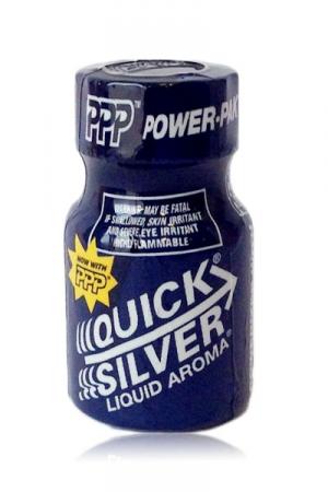 Poppers Quick Silver 9 ml - Le poppers Quicksilver 9 ml existe depuis 1979 : super efficace, il reste toujours frais et ultra pure grâce à sa formule au PPP pour une diffusion express. Sa formule contient entre autre de l'isopropyle nitrite.