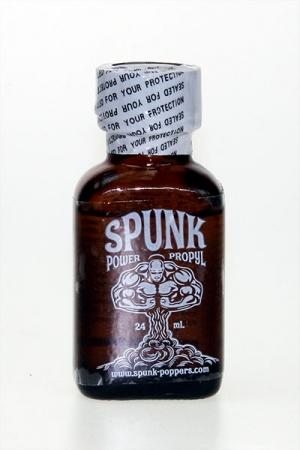 Poppers Spunk 24 ml - Poppers Spunk 24 ml à base d'isopropyle : petit mais costaud, cet arôme liquide provoque une forte poussée de désir chez ceux et celles qui le respirent. Son action dure quelques minutes.