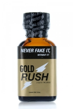 Poppers Gold Rush 24 ml - Gold Rush, un poppers surpuissant à base d'isopentyle nitrite, la molécule la plus forte du marché pour un effet vasodilatateur exceptionnel. Son effet est immédiat !