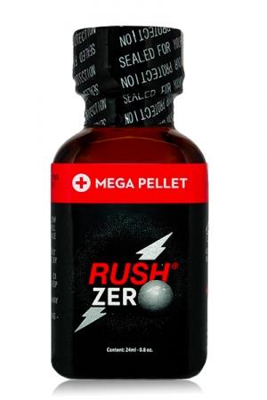 Poppers Rush  zero 24 ml - Méga puissant et avec peu d'effets secondaires : c'est le Rush Zero 24 ml. Avec sa fermeture Mega Pellet, votre poppers reste plus frais plus longtemps. Sa formule unique à base de nitritre de pentyle et de propyle va vous rendre fou.