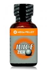 Poppers Juice Zero 24 ml - Jungle Juice Zero en grand format 24 ml. Mélange idéal entre l'isopropyle et le pentyle pour une dilatation hyper efficace avec moins d'effets secondaires. Système Mega Pellet pour conserver cet arôme intact plus longtemps.