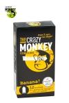 12 Préservatifs Aromatisés Banane Crazy Monkey - 12 capotes aromatisées à la banane de forme cylindrique, 18 x 5,2 cm. Un préservatif fin, en caoutchouc lisse, avec réservoir. Parfait pour une fellation à la banane. Fabriquée en Allemagne et testée électroniquement.