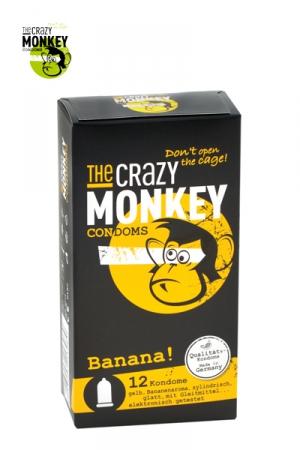 12 Préservatifs Aromatisés Banane Crazy Monkey