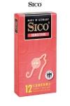 12 Préservatifs Extra Fins Sico Sensitive - 12 préservatifs en latex ultra fins de 0,055 mm d'épaisseur, 5,2 cm de diamètre et 18 cm de long. Comme du sexe sans capote mais protégé. Fabriqué en Allemagne par Sico, la meilleure qualité disponible sur le marché.