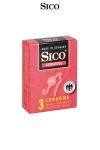 3 Préservatifs Extra Fins Sico Sensitive - 3 préservatifs extra fins de 0,055 mm d'épaisseur en latex pour 18 cm de long et 5,2 cm de diamètre. Sensation de faire l'amour bareback en restant protégé. Qualité premium, fabrication allemande par Sico.