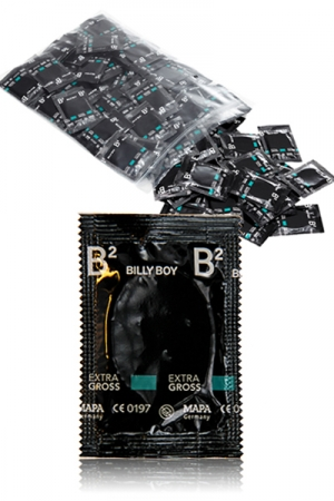 100  Préservatifs Billy Boy XXL - 100 préservatifs XL de 19,5 cm de long fabriqués en Allemagne pour le confort de l'homme TTBM, à prix discount !