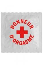 Préservatif Donneur D'orgasme : Après les donneurs d'organes, voici les capotes Donneur D'orgasme : c'est toujours pour la bonne cause et cette capote est fabriquée en France par Calvin dans un latex haut de gamme.