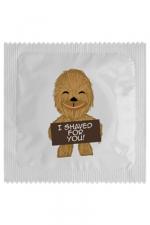 Préservatif I Shaved For You - Pour les fans de Chewbacca et de Star Wars, le Préservatif  I Shaved For You  est un cadeau humoristique parfait. Il est fabriqué en France dans la tradition de l'excellence et de la protection contre les IST et MST.
