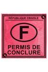 Préservatif Permis De Conclure - Avez-vous passé votre Permis De Conclure ? Avec ce préservatif en latex fabriqué en France par Callvin, ce ne sera qu'une formalité, votre instructeur vous l'octroiera à tous les coups !