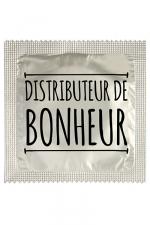 Préservatif Distributeur De Bonheur - Préservatif Distributeur De Bonheur par Callvin pour donner du bonheur à tous ! Un préservatif humoristique fabriqué en France dans un latex haut de gamme.