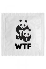 Préservatif WTF Humoristique - Fabriqué en France, le préservatif WTF est très drôle et copie le code du WWF. Cette capote humoristique de marque Callvin vous protège efficacement et est conforme aux normes CE et NF.
