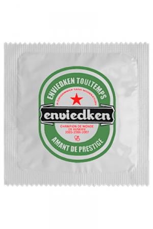 Préservatif Enviedken Humour - Fabriqué en France par Callvin, le Préservatif  Enviedken  annonce la couleur. Largeur préservatif 5,3 cm +- 0,2cm, conforme à la norme NF ISO 4074 et CE. Fabriqué en latex.