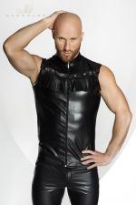 Vest STRONGER Rawhide - Veste sans manches en faux cuir, d�cor�e de franges dans le plus pur style Cowboy. HiHa !