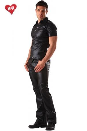 Jeans faux cuir Classic Cut - Jean en faux cuir : une coupe classique et droite mais une matière qui séduit & attire le regard. Regardez les mains de tous ces hommes se tendrent vers vous !