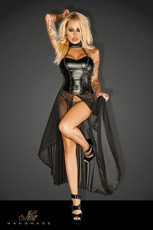 Robe Longue Fendue pour Travesti - Robe longue fendue pour un travesti sexy. Disponible en grande taille. Mise en avant des fesses et des jambes