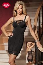 Robe Moulante Coquette Amazing - Avec son dos en résille transparente jusqu'aux fesses, cette robe sexy et cintrée à l'avant vous donne une silhouette irrésistible. Sans oublier son ornement de dentelle en forme de string amovible pour le décolleté.