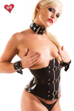 Corset en Latex Honour Bondage - Ce corset serre la taille comme jamais, il est très étroit et réservé aux connaisseurs et connaisseuses. Fabriqué dans un latex haut de gamme par Honour, c'est une pièce rare, à posséder.