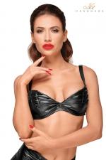 Top Bikini Echancré pour Sissy : Un top bikini échancré pour sissy pour vous rendre toujours plus féminine et désirable. Bonnets travaillés et renforcés de baleines pour une poitrine plus grosse. Bretelles réglables. Top disponible jusqu'au XXXL