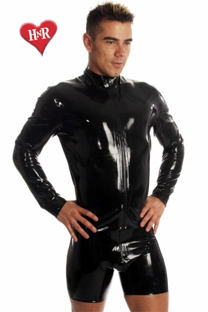 Veste Zip Jacket latex - Veste homme moulante en latex haute qualité.
