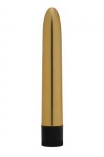 Vibromasseur Golden Boy - Dorcel : Beau, lisse, simple et efficace, le vibro Golden Boy est idéal pour les débutantes et indispensable pour les amatrices de sextoys.
