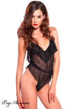 Body Travesti Amazing Ruffle - Body sensuel d'intérieur pour travesti aux légers drapés affolants : doux, confortable et très féminin.